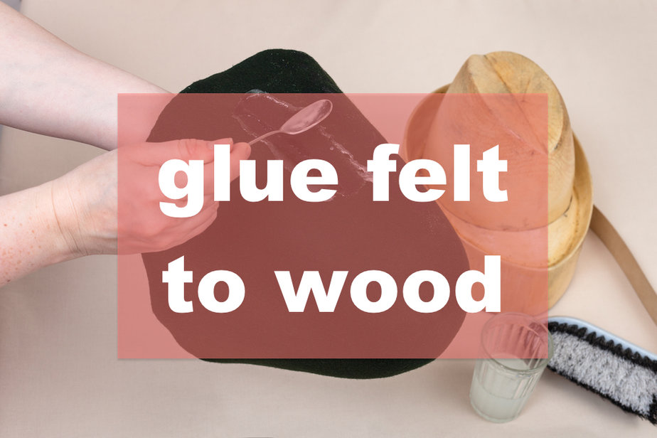 workshop for alpine felt hat making - hatter applies an adhesive a felt hood for shaping on wooden dummy